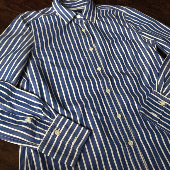 J.Crew L/S Shirt in Vertical Stripe (sz 2)